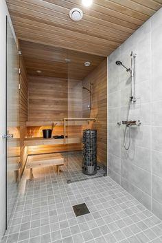Myydään Paritalo 4 huonetta - Järvenpää Satukallio Satukalliontie 6 A - Etuovi.com 631518 Sauna Design, Spa Rooms, Fresh And Clean, Bathroom Cleaning, Master Bath, Sweet Home, Bathtub, Saunas, Cabin