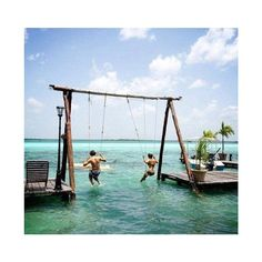 Swing set a fun #playful way to a #happy day! thanks @Kenya Paba Insta #spa pick of the week! Swing Out over the Sea!