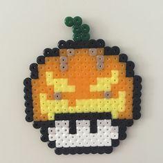 Pumpkin laughing mushroom perler beads by Bjrnbr - Björn Börjesson