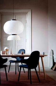 Catch Chair & Formakami Pendant Lamp by Jaime Hayon and In Between Table by Sami Kallio, all designed for &Tradition. Get The Originals at www.2ndfloor.gr