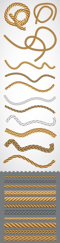 Vector Rope Graphic Styles for Adobe Illustrator #design #ai Download: http://graphicriver.net/item/vector-rope-graphic-styles/7864893?ref=ksioks