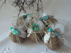 Rustic Easter eggs  set of 5. by Mydaisy2000 on Etsy, $33.00