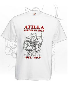Atilla Europian Tour - fehér European Tour, Tours, Mens Tops, T Shirt, Fashion, Supreme T Shirt, Moda, Tee Shirt, Fashion Styles