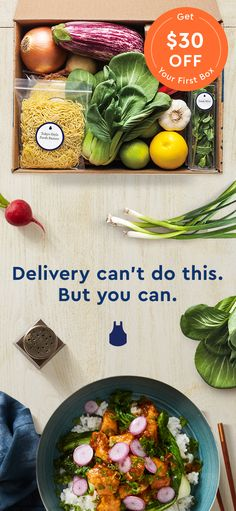 Blue Apron sends you everything you need to create incredible meals in the comfort of your home! Chef-designed recipes, seasonal ingredients, and more - try us out and get $30 off your first box.
