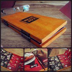 Butjoz menu from wood pallet...love it