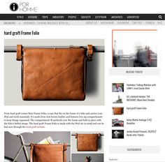 From hard graft comes their Frame Folio, a case that fits on the frame of a bike and carries your iPad and work essentials. It's made from rich brown leather and features two zip compartments to keep things organized. The compartments fit perfectly over the frame and held in place with the folio's belted straps.