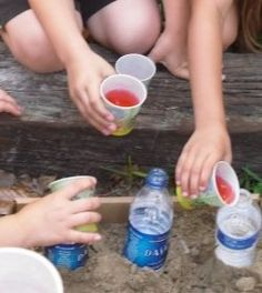 Build an erupting ring of fire! Says for younger students but I don't see why this wouldn't be a FUN activity with middle schoolers! Outside activities are always fun if they know exactly what they will do once they are outside! This one would be high interest!