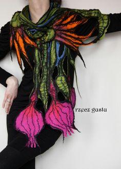 Szal#scarf #filcowanie #felting