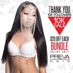 We're having a10K SALE! visit PrevaHair.com and get $20 OFF per item! Bundles Closures AND Frontals are all $20 OFF on our website!! TAG A FRIEND by prevahair