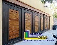 Resultado de imagen para portones modernos minimalistas Entry Doors, Garage Doors, Main Gate, Exterior, Patio, Outdoor Decor, Home Decor, Interior Door, Garden