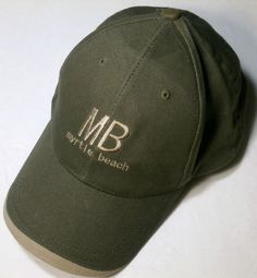 04ca636dadbbe1 Myrtle Beach SC Cap Hat Strand Headwear Dark Green Adjustable One Size  Myrtle Beach Sc,