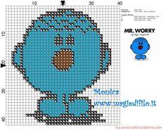 Mr. Worry (Mr. Men) cross Stitch pattern