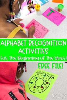 Check out these alphabet activities for kindergarten! Students will have fun playing games, creating playdough letters, reading poems, completing crafts, and more! These are perfect activities for the first few weeks of school!