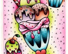 Vorssa Ink par cupcake Kata Puupponen Tattoo Flash par VorssaInk
