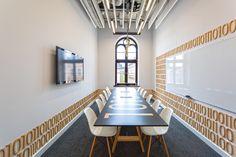 Office meeting room with sketch veneer table