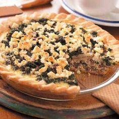 Spinach Venison Quiche Recipe | Taste of Home Recipes