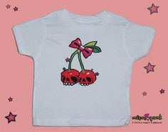 Cherry Skulls Rockabilly Baby and Toddler Tee by Miso Punk, $15.00
