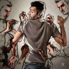#SébastienDelGrosso | Increíbles Autorretratos del Arte y la Creatividad.