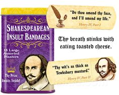 SHAKESPEAREAN INSULT BANDAGES‐ where do I get these??