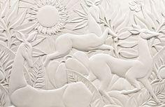 Polished, cast plaster Bas-Relief | Interior Arts London | DKT Artworks