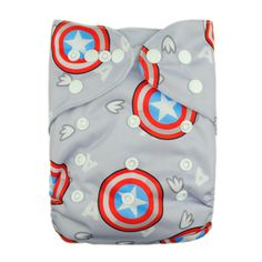 Captain America print Alvas cloth diapers