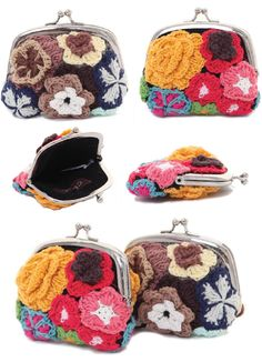 I love these #crochet coin purses