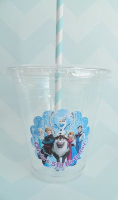 Frozen Themed Party Cups, Lids  Straws - Set of 24 on Etsy, $17.00