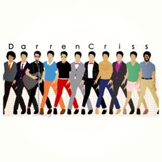 The evolution of Darren Criss shown in a really cute way :)