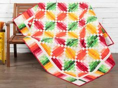 Fruit Slices Quilt Kit by Monique Dillard featuring Boundless Blenders Botanical Fabric | Craftsy