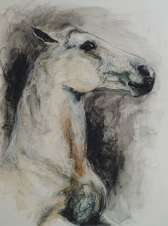 OOAK Reared up Horse II Drawing