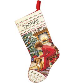 Janlynns stocking kits help you create gifts and decorations that will be treasured for years to come. This package contains:14-count Aida fabric 6-strand 100% cotton floss Floss card Backing fabric N