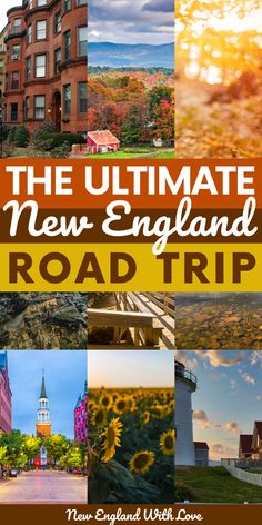 Six beautiful states. One amazing road trip. This mega New England road trip itinerary will help you visit all of the top spots throughout the region. Maine New England, New England States, New England Fall, New England Travel, East Coast Travel, East Coast Road Trip, Road Trip Usa, Travel Usa, Beach Travel