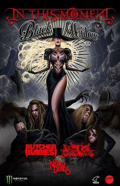 """NEWS: The rock band, In This Moment, has announced a U.S. headline tour, for this spring, called the """"Black Widow Tour."""" Butcher Babies, Upon A Burning Body and The Nearly Deads will be on the tour, as support. They will be touring in support of their latest album, Black Widow. You can check out the dates and details at http://digtb.us/1B72Hn6"""