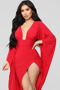 Spreading Rumors Dress - Red Mermaid Deep V Neck Dress Backless Fashion Satin Prom Dress Sexy Dresses, Sexy Outfits, Beautiful Dresses, Cute Outfits, Fashion Outfits, Beautiful Women, Black Girl Fashion, Look Fashion, Kids Gown Design
