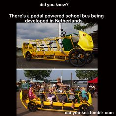 pedal powered schoolbus