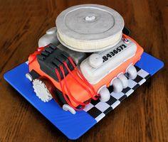 Car Engine Cake By Designer Desserts Designer Desserts - Car engine birthday cake