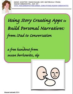 Kidz Learn Language: Building Narratives in Intervention With and Without Technology. Personal narratives are the precursor to conversations, social engagement, academics, story telling and re-telling. Build narratives with your kids. Speech Language Therapy, Speech And Language, Speech Therapy, Communication Development, Language Development, Special Education Teacher, Teacher Blogs, Special Needs Students, Personal Narratives