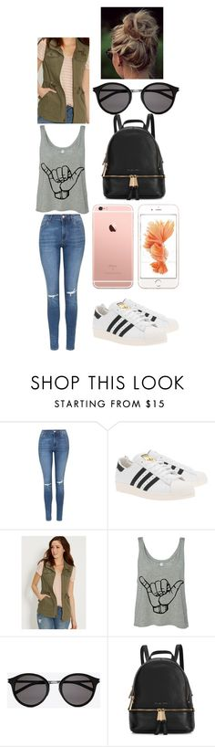 """""""#WouldThisOutfitWork?"""" by izzy-ccix on Polyvore featuring Topshop, adidas Originals, maurices, Yves Saint Laurent, Michael Kors, women's clothing, women, female, woman and misses"""