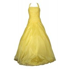 Bright Lemon Yellow Puff Ball Gown | Poofy Prom Petti Coat Dresses | Sequin Majestic Dresses