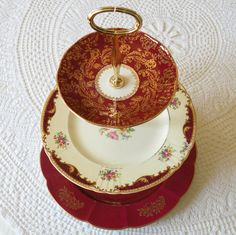 3 Tier Cake Plate Stand of Vintage China
