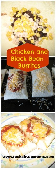 #Chicken And Black Bean #Burritos - rockabyeparents.com