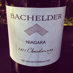 The Nittany Epicurean: 2011 Bachelder Niagara Chardonnay