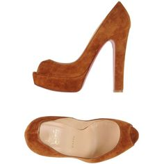 Christian Louboutin Court ($520) ❤ liked on Polyvore featuring shoes, pumps, camel, heels stilettos, leather shoes, stiletto heel pumps, christian louboutin pumps and christian louboutin