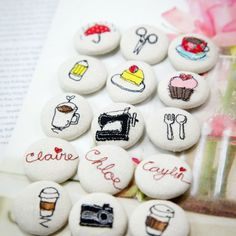 Learn how to make these darling cover buttons with sewing machine. Photo tutorial shows you how.