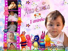 SV Imagem Personalizados - Silmara Vintem: Banner com Mini Fotos Personalizado no Tema Backyardigans