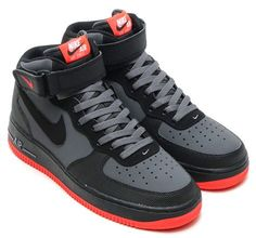 With a neutral theme for Summer or Fall, Nike Sportswear has slowly introduced the Nike Air Force 1 Mid Hot Lava. Nike Shox Shoes, Nike Air Shoes, Black Nike Shoes, Sneakers Nike, Shoes Jordans, Air Force One Shoes, Air Force 1 Mid, Nike Air Force Ones, Zapatillas Jordan Retro