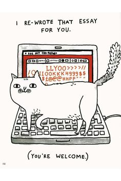 The career goal of every cat we've ever met. #argh #getoffmykeyboard!