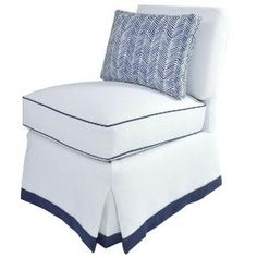 Oomph Linen Slipper Chair-Available in Four Different Colors. Product in photo is from www.wellappointedhouse.com