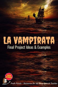I'm in awe of some of the final projects from my Spanish students! We are finishing up reading La Vampirata by Mira Canion this week. This book is short, comprehensible, and engaging. Perfect for mid-novice Spanish language learners! Final projects included postcards from Sara to her mother back home and casting characters for a #Vampirata movie! #teachmorespanish #profepistole #theNISH #Spanish #Education #Resources #SpanishClass #SpanishTeacher #ComprehensibleInput