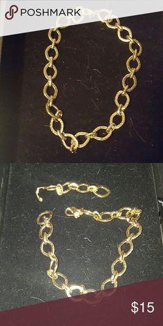 "Premier Designs ""Golden Rules"" Necklace Antiqued matte gold tone 16"" necklace/wrap bracelet+4"" removable extension with lobster claw closure. Premier Designs Jewelry Necklaces"
